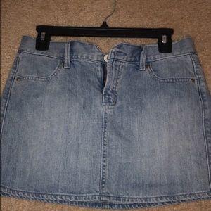 Blue Jean Mini Skirt